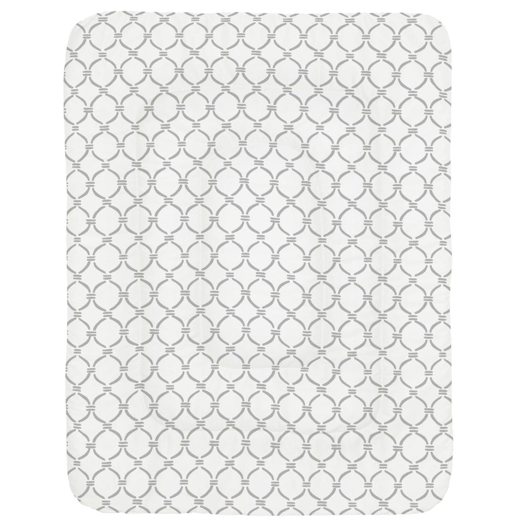 Product image for Silver Gray Lattice Circles Crib Comforter
