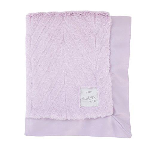 Product image for Lavender Cuddle Me Plush Chevron Blanket