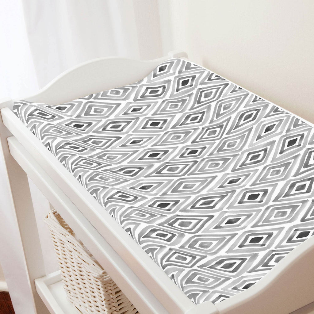 Product image for Gray Painted Diamond Changing Pad Cover