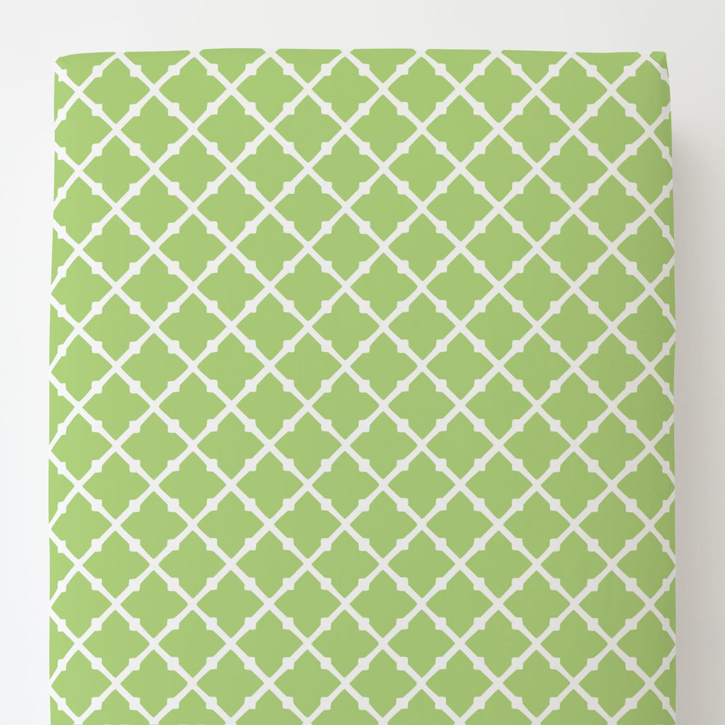 Product image for Kiwi Lattice Toddler Sheet Bottom Fitted