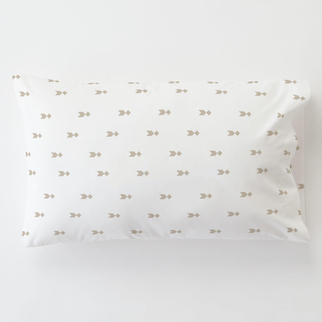 Product image for Taupe Flying Diamonds Toddler Pillow Case with Pillow Insert