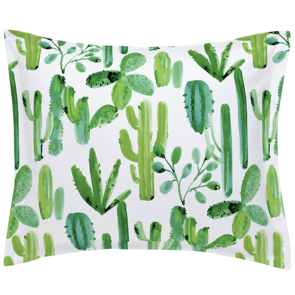 Product image for Green Painted Cactus Pillow Sham