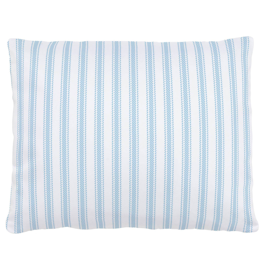 Product image for Lake Blue Ticking Stripe Accent Pillow