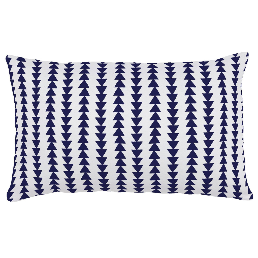 Product image for Windsor Navy Arrow Stripe Lumbar Pillow