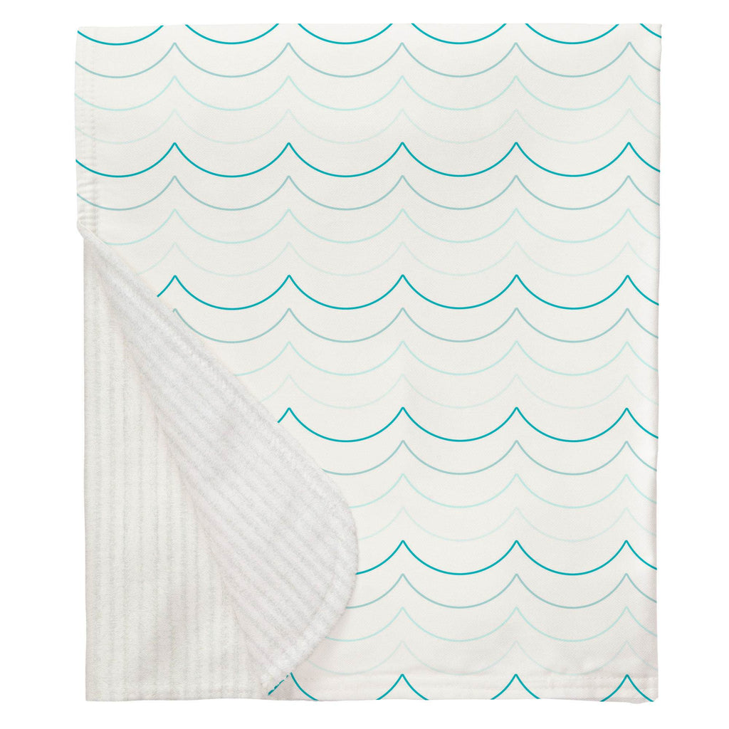 Product image for Teal Wave Stripe Baby Blanket
