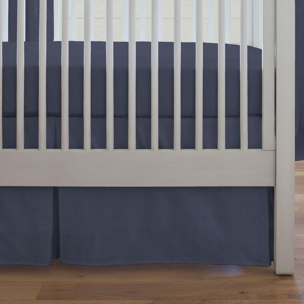 Product image for Solid Navy Crib Skirt