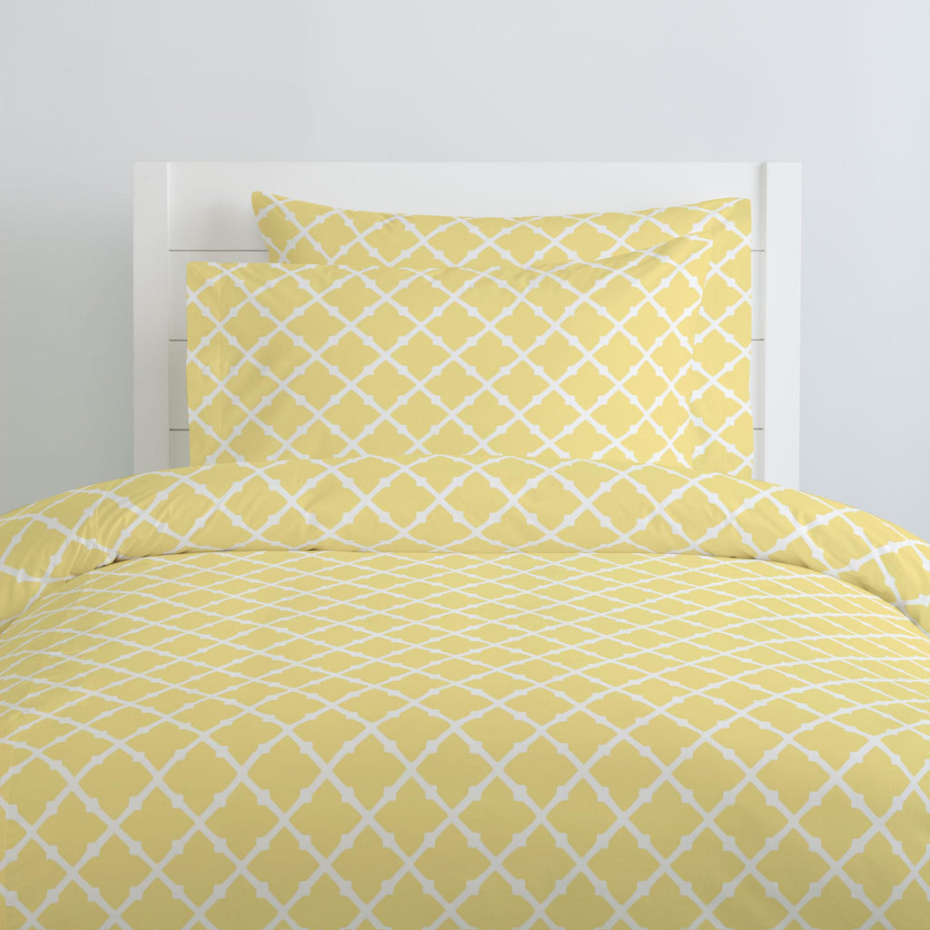 Product image for Banana Yellow Lattice Duvet Cover