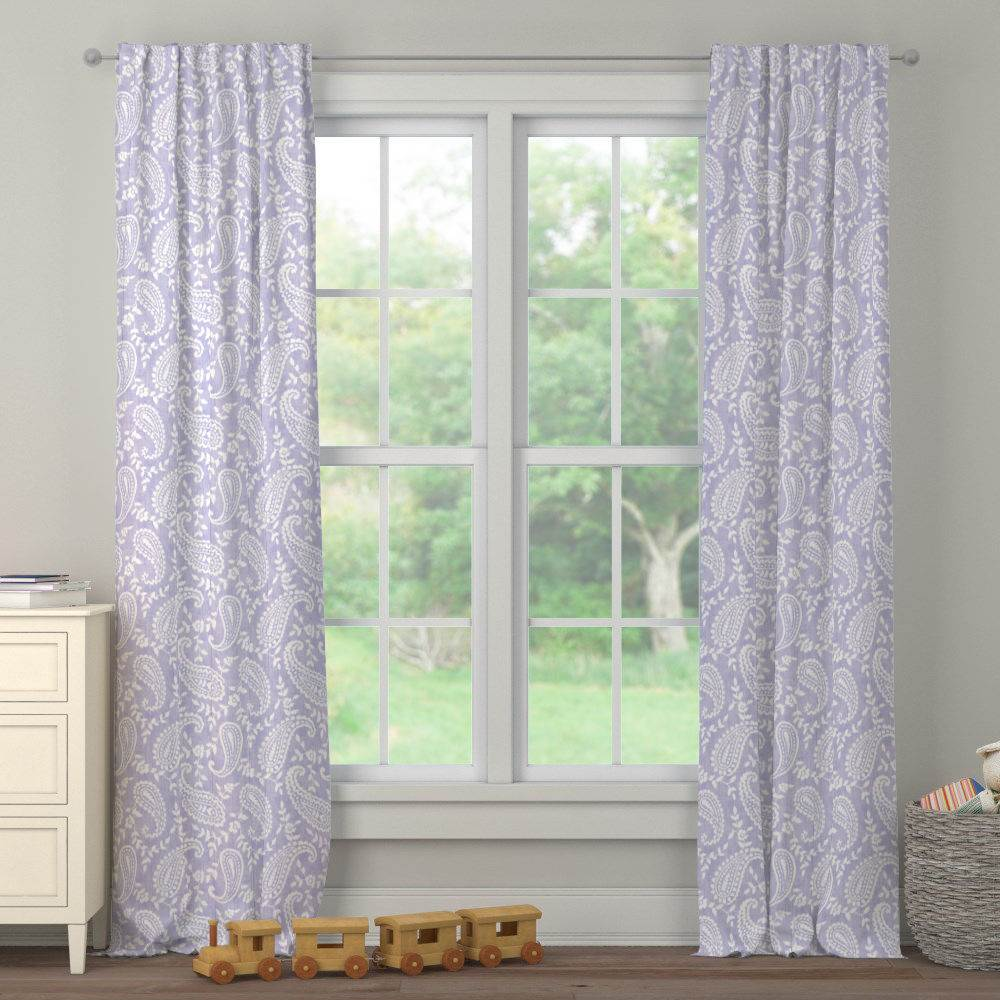 Product image for Lilac Paisley Drape Panel