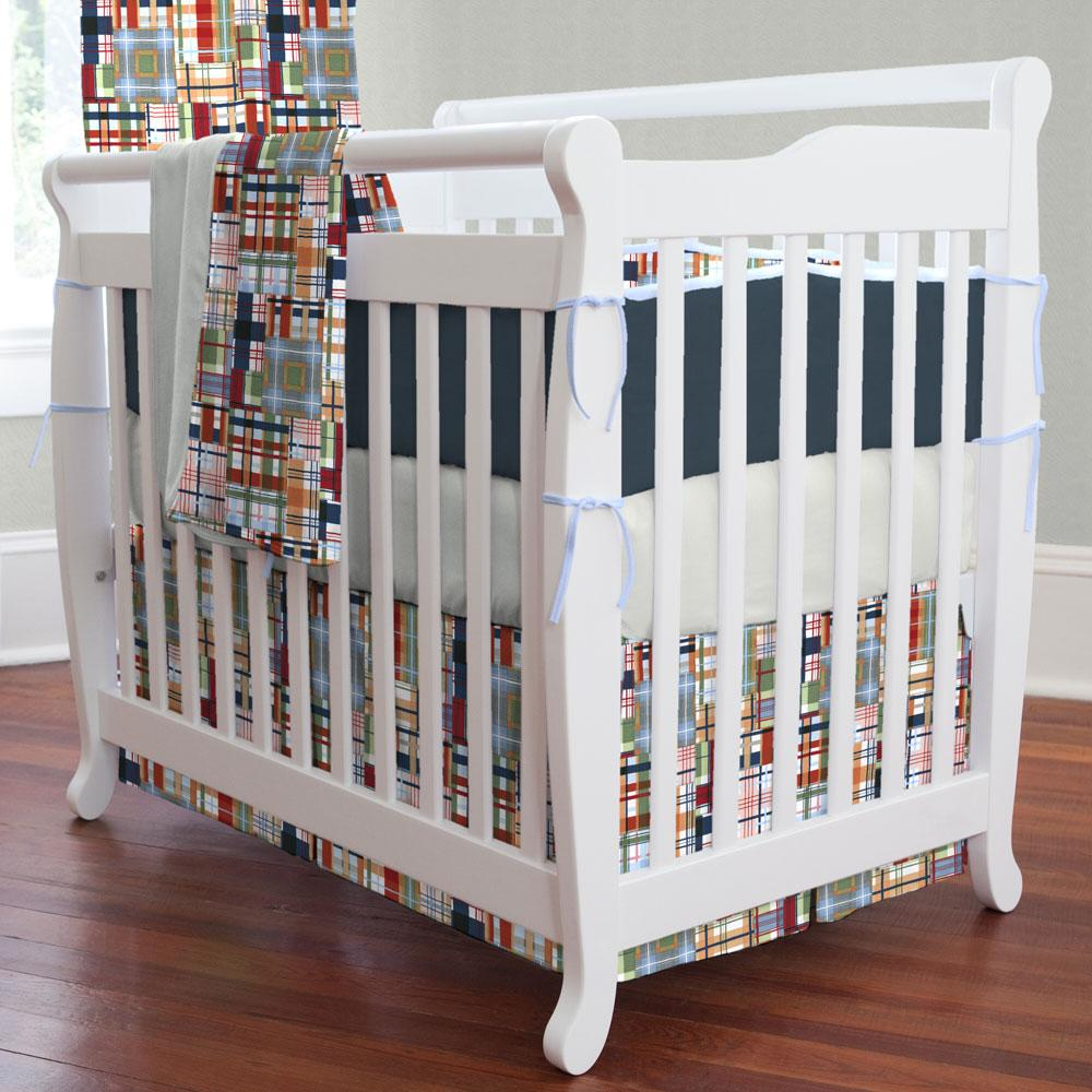 Product image for Patchwork Plaid Mini Crib Bumper