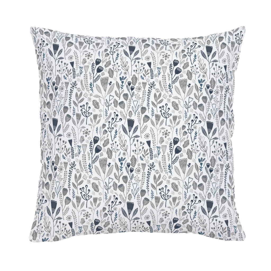 Product image for Blue Woodland Foliage Throw Pillow
