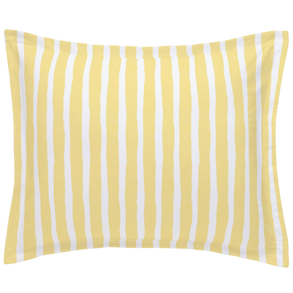 Product image for Banana Yellow Weathered Stripe Pillow Sham