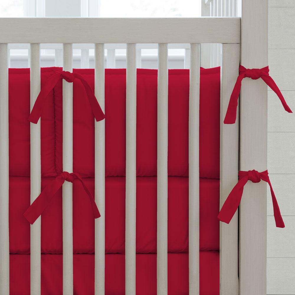 Product image for Solid Red Crib Bumper