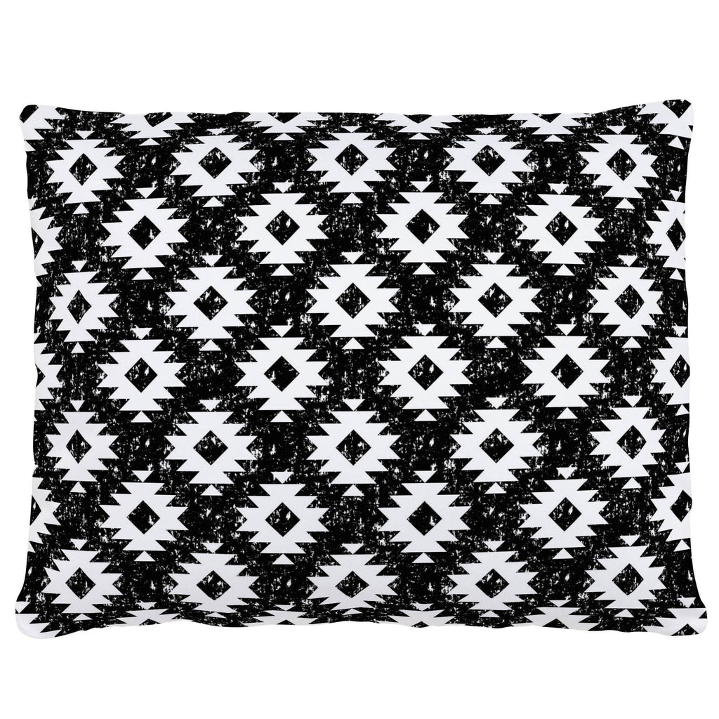 Product image for Onyx and White Aztec Accent Pillow