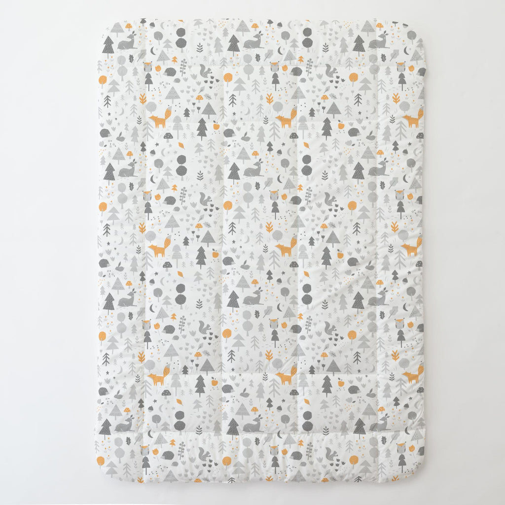 Product image for Light Orange and Silver Gray Baby Woodland Toddler Comforter