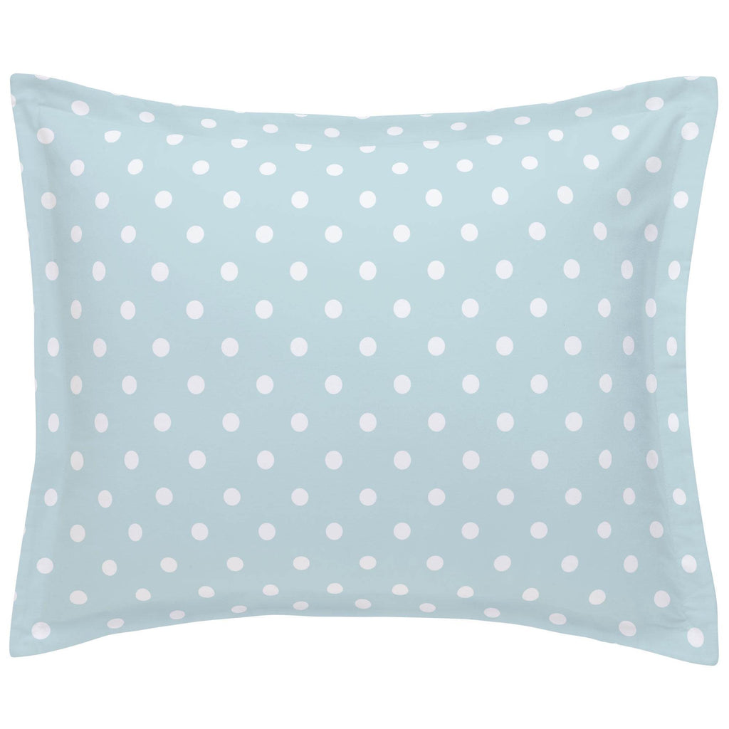 Product image for Mist and White Polka Dot Pillow Sham