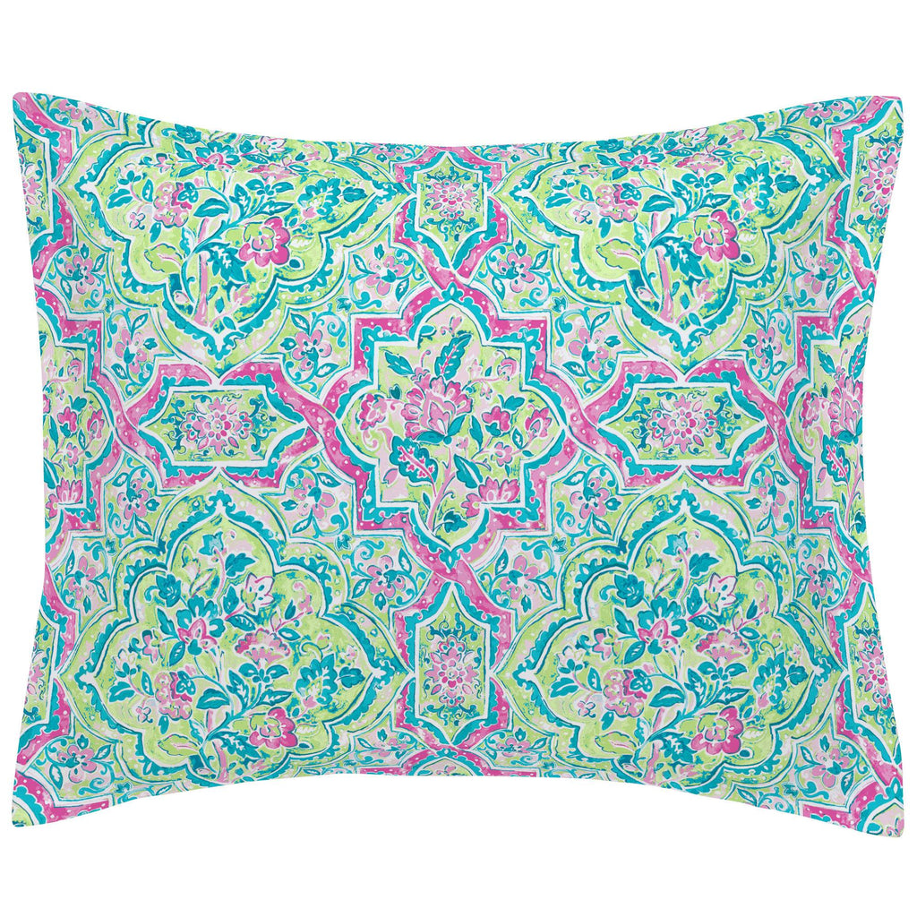 Product image for Pink Watercolor Medallion Pillow Sham