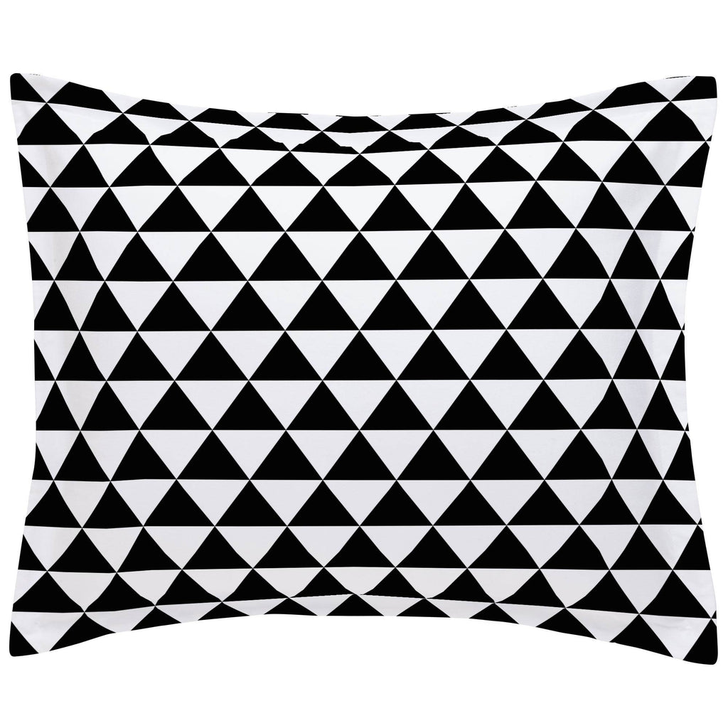 Product image for Onyx Triangle Stack Pillow Sham