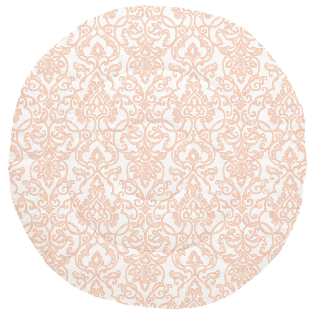 Product image for Peach Filigree Baby Play Mat