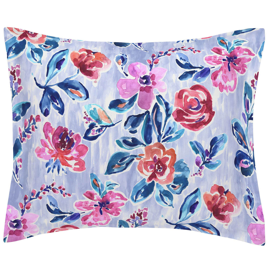 Product image for Pink and Lavender Garden Pillow Sham