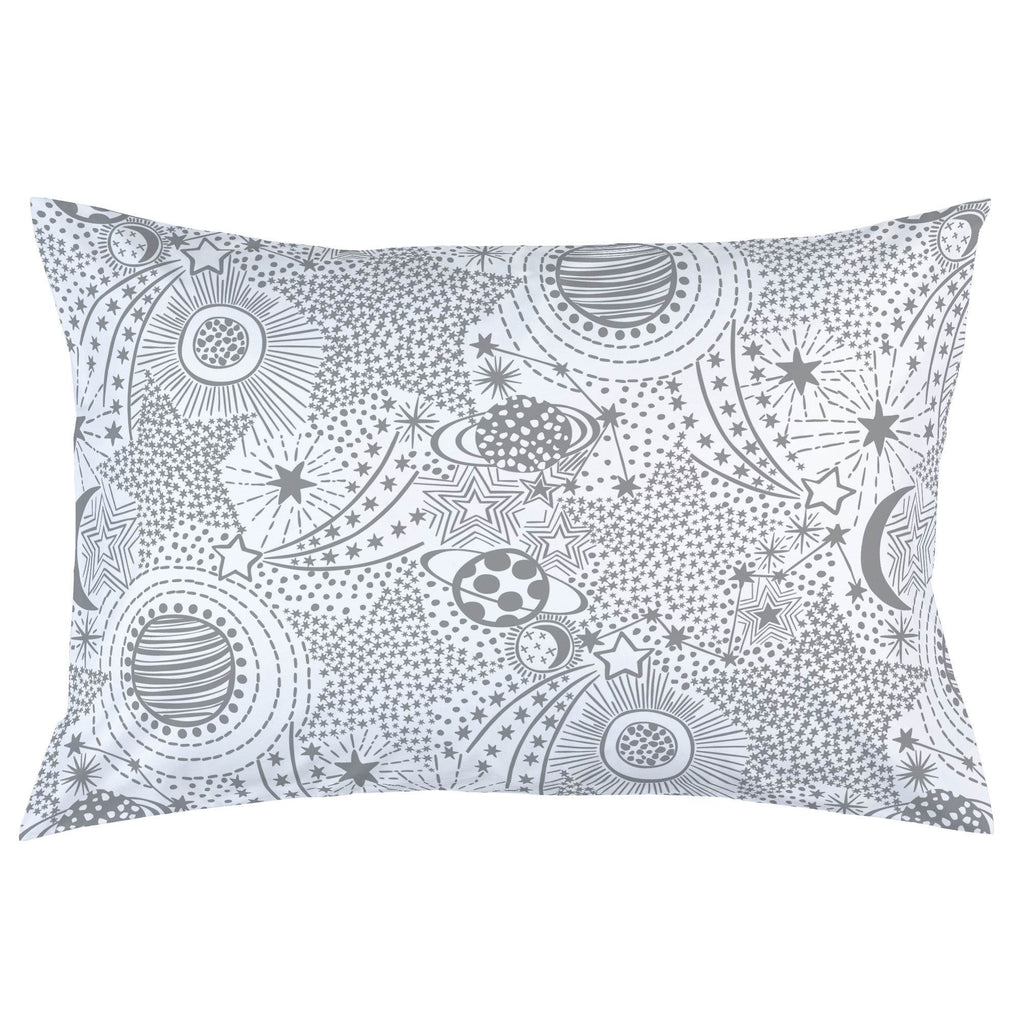 Product image for Cloud Gray Galaxy Pillow Case