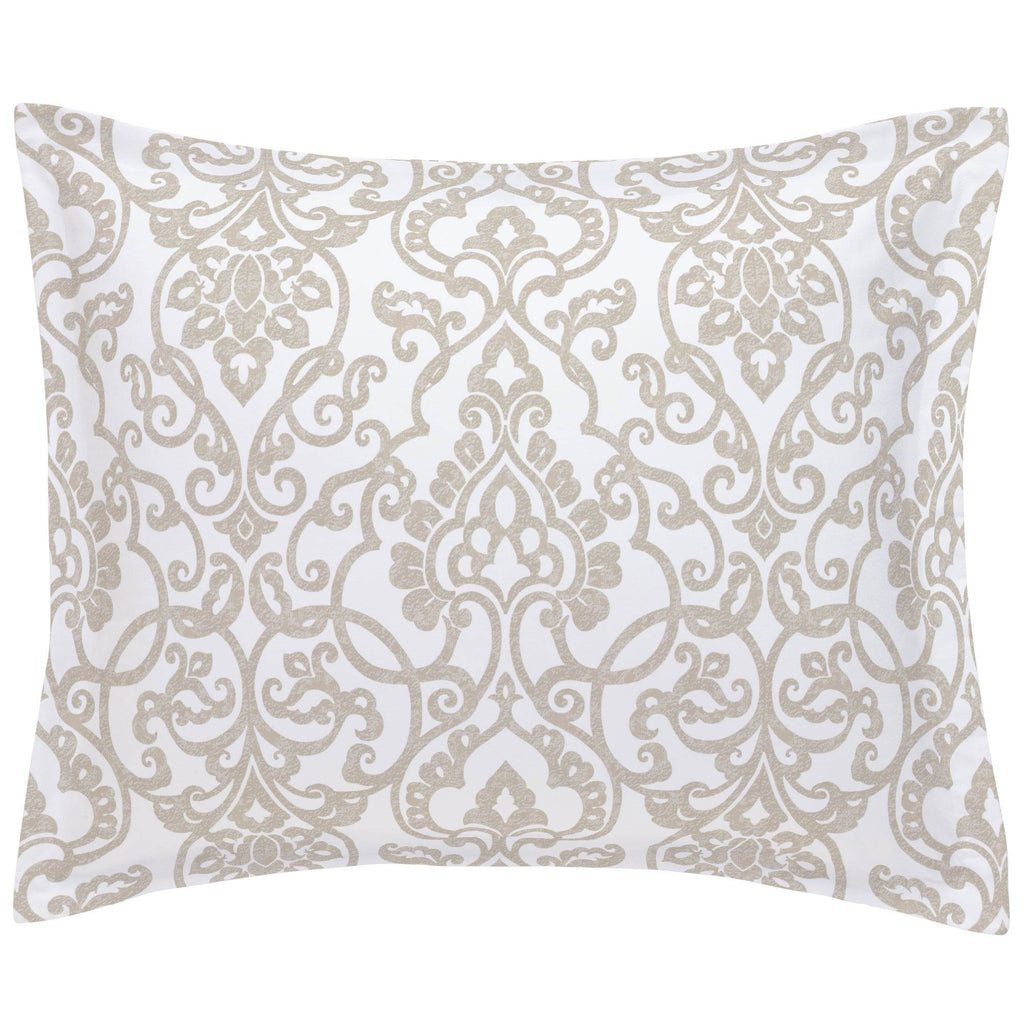 Product image for Taupe Filigree Pillow Sham