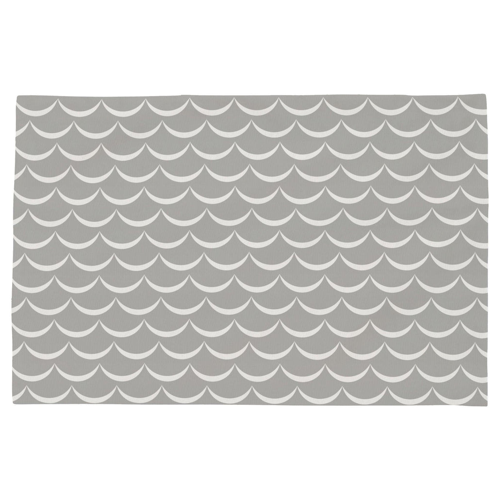 Product image for Silver Gray Waves Toddler Pillow Case