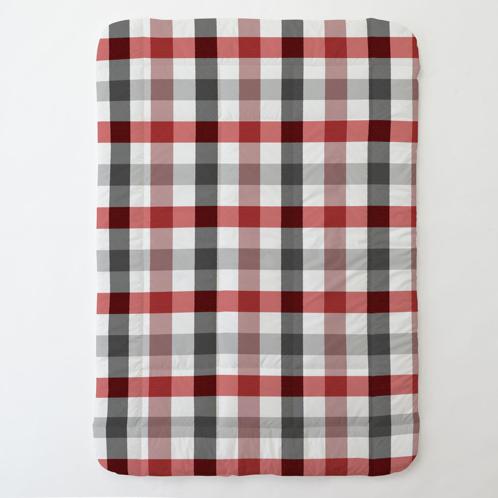 Product image for Red and Onyx Buffalo Check Toddler Comforter