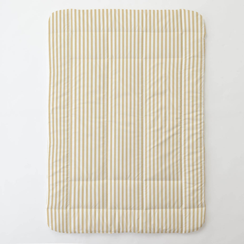 Product image for Mustard Ticking Stripe Toddler Comforter