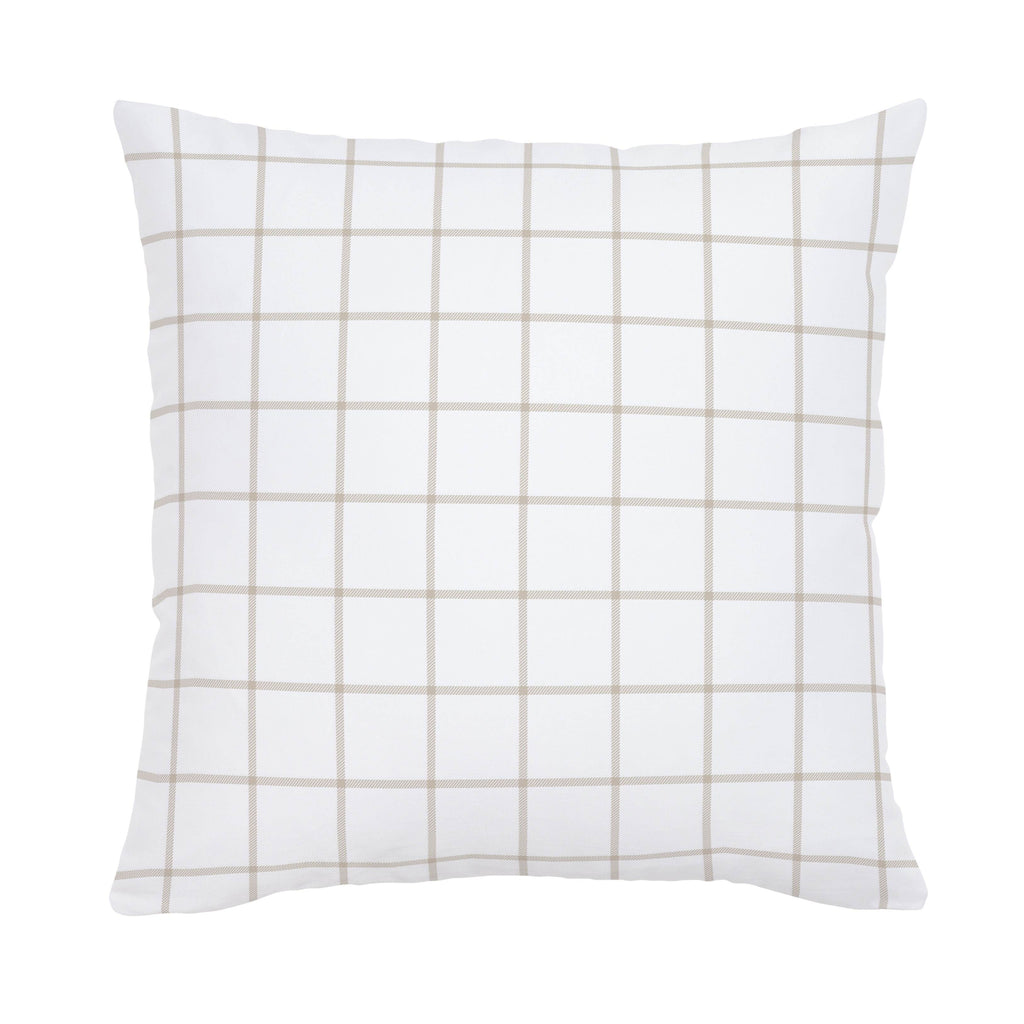 Product image for Taupe Windowpane Throw Pillow