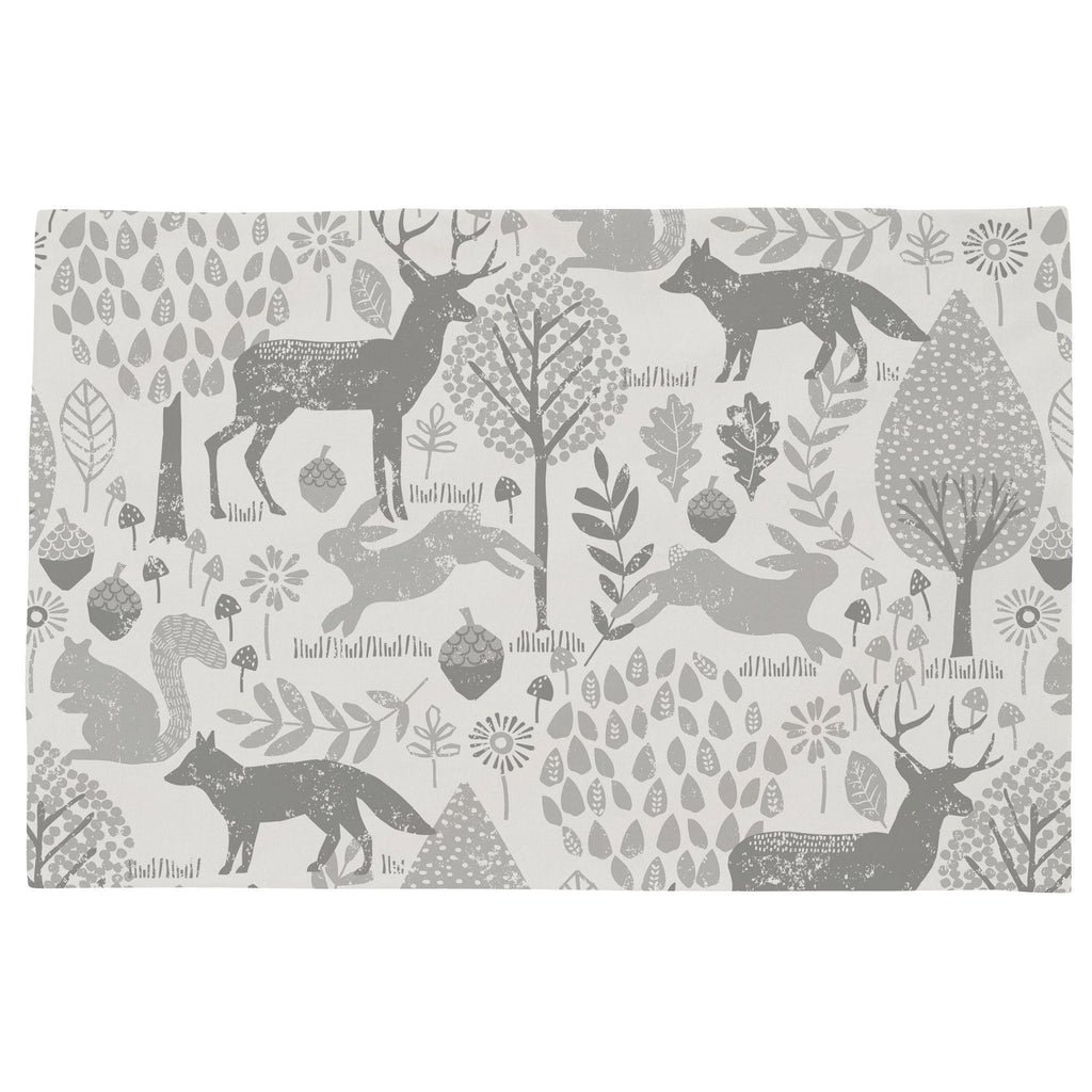 Product image for Gray Woodland Animals Toddler Pillow Case