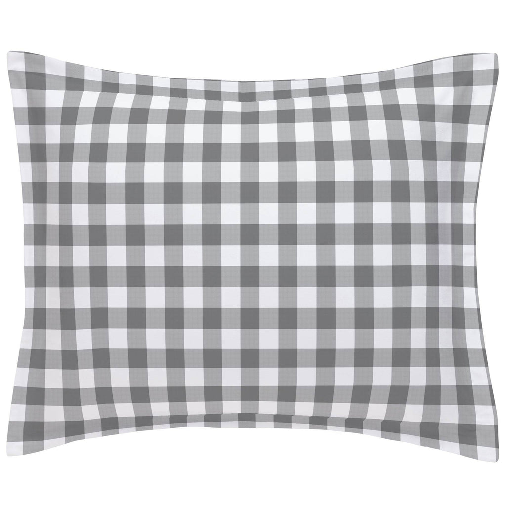 Product image for Gray Gingham Pillow Sham