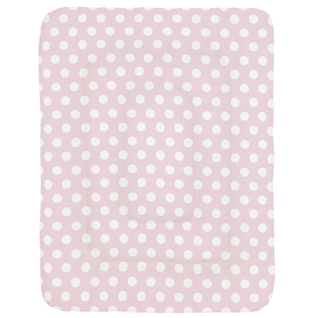 Product image for Pink and White Brush Dots Crib Comforter