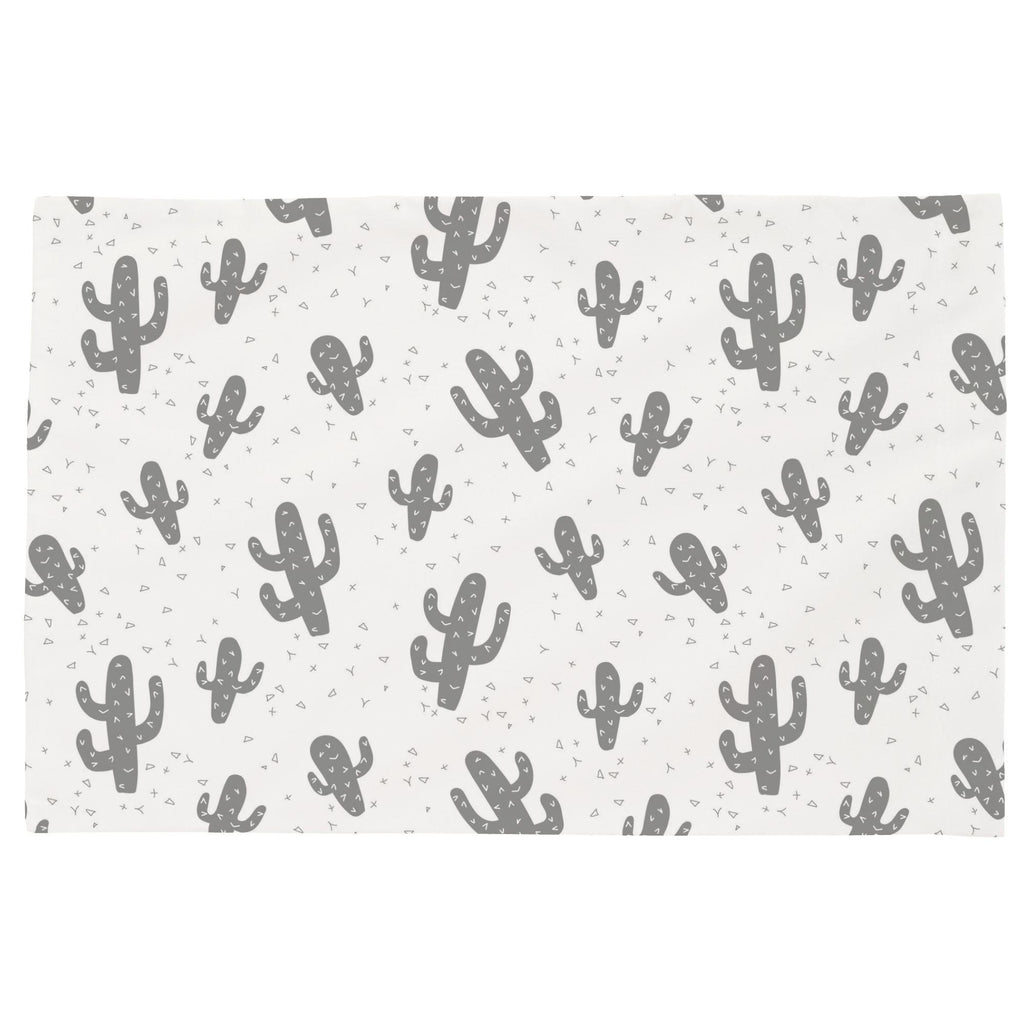 Product image for Cloud Gray Cactus Toddler Pillow Case