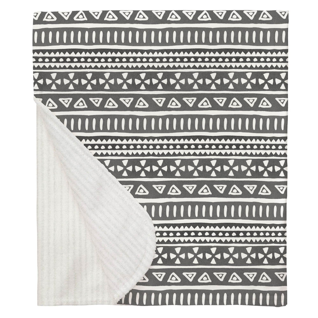 Product image for Gray Watercolor Tribal Baby Blanket