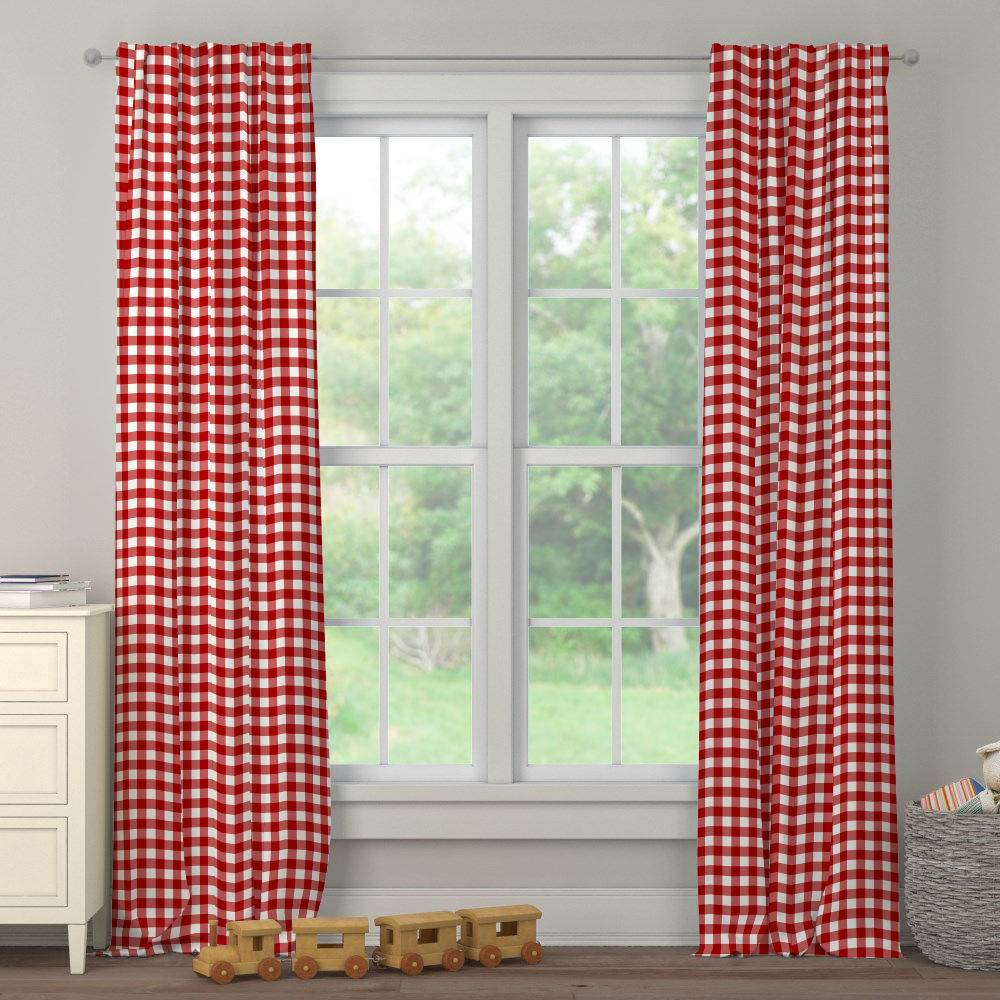 Product image for Red Gingham Drape Panel