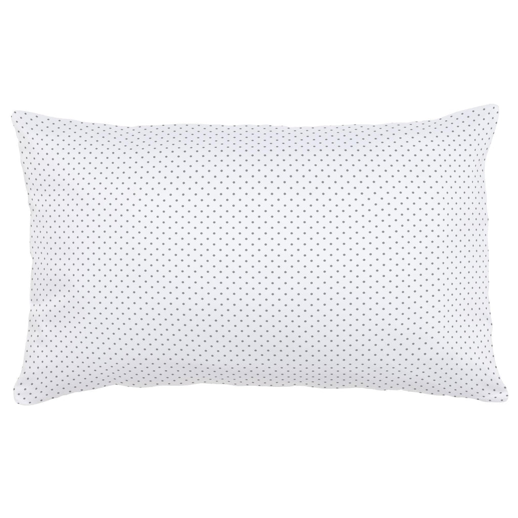 Product image for Cloud Gray Pin Dot Lumbar Pillow