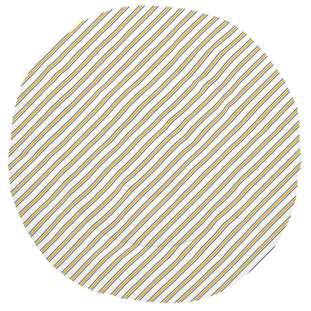 Product image for Navy and Yellow Necktie Stripe Baby Play Mat