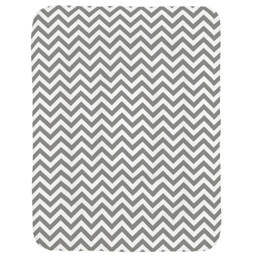 Product image for White and Gray Zig Zag Crib Comforter