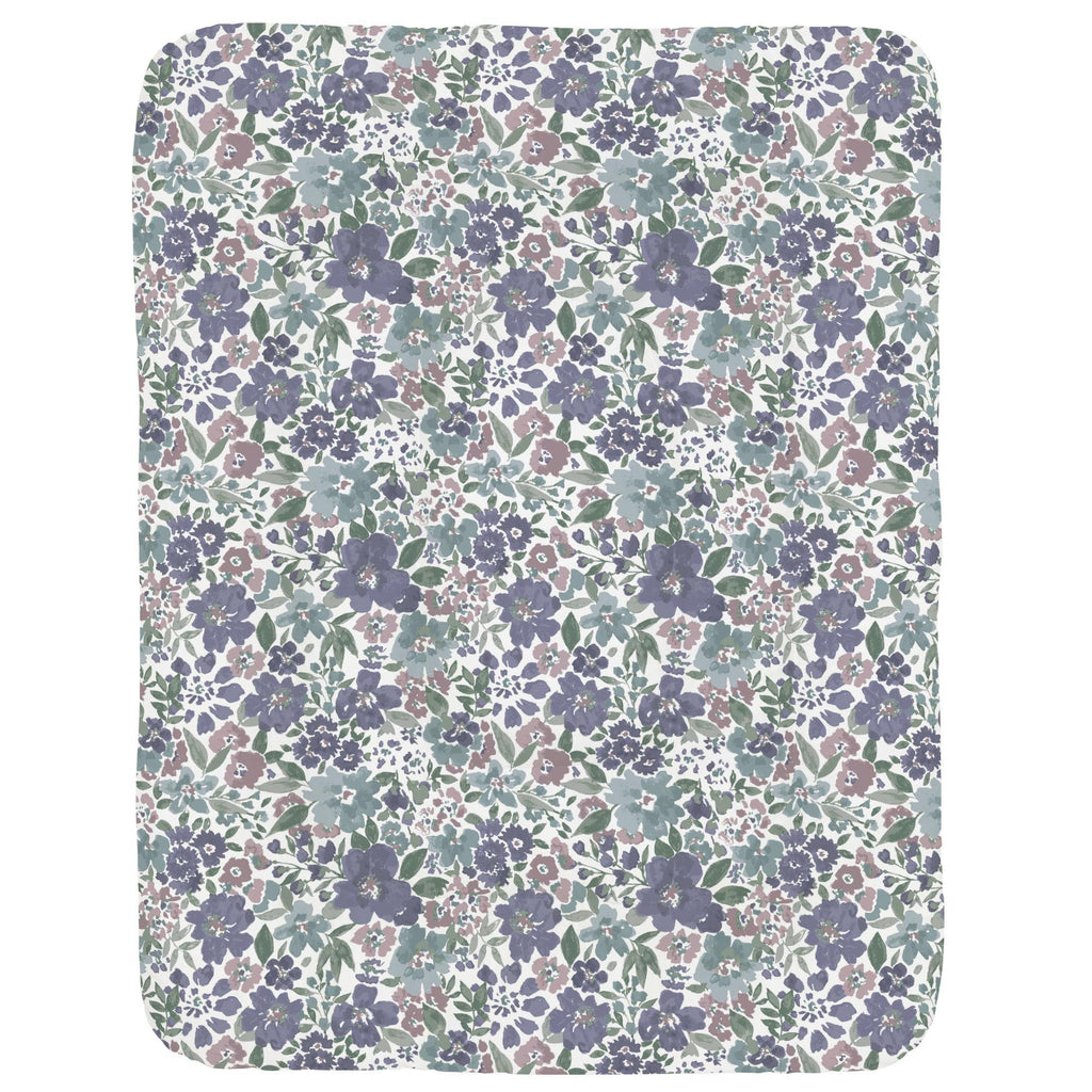 Product image for Purple Prairie Floral Crib Comforter