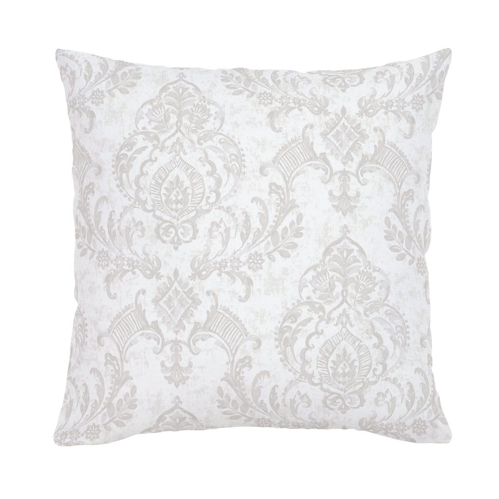 Product image for French Gray Painted Damask Throw Pillow