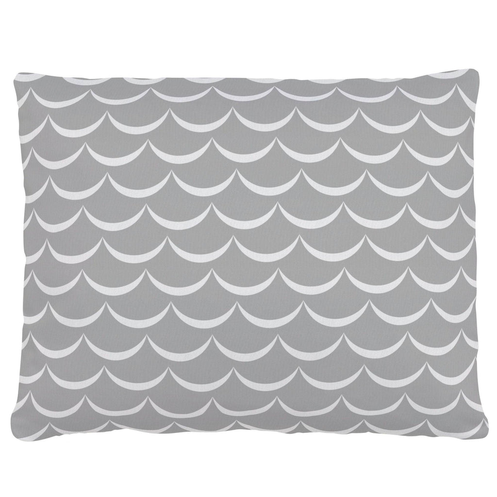 Product image for Silver Gray Waves Accent Pillow