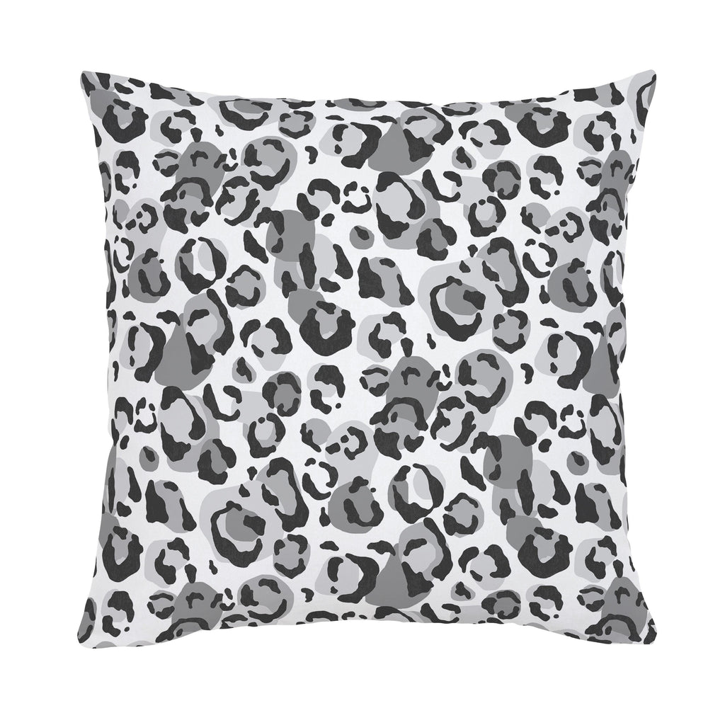 Product image for Gray Leopard Throw Pillow