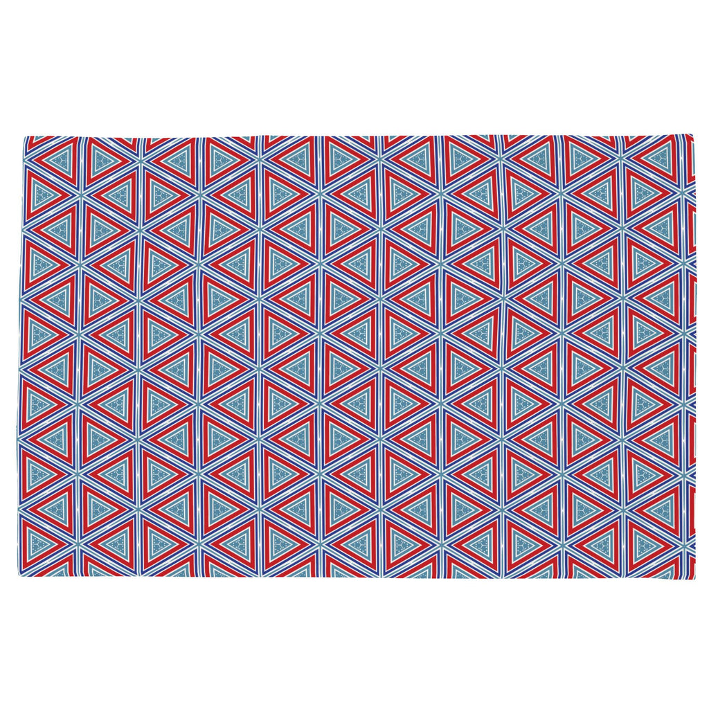 Product image for Red Nautical Triangles Toddler Pillow Case
