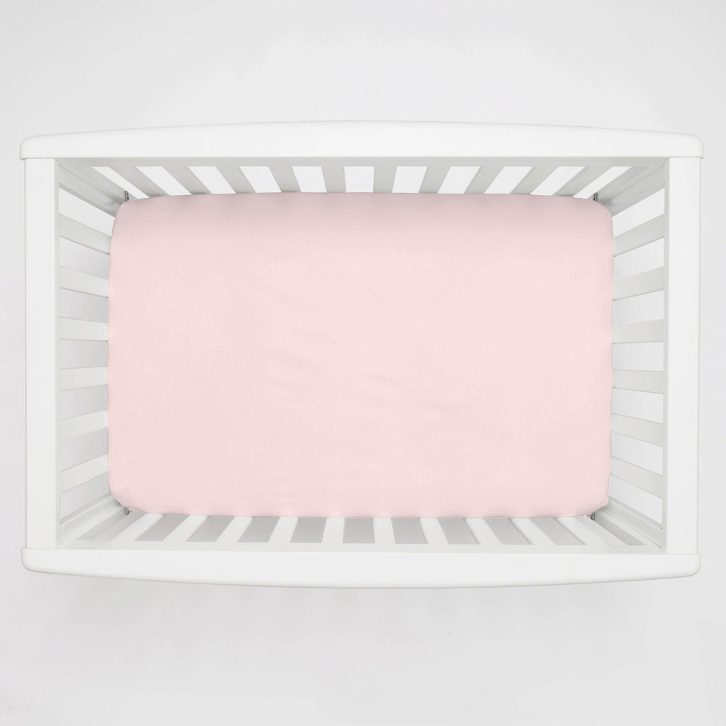 Product image for Solid Pink Mini Crib Sheet