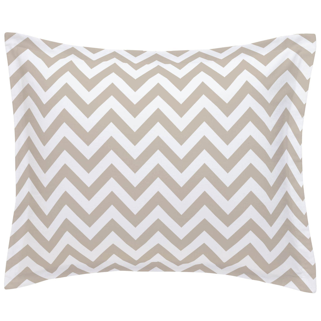Product image for Taupe Zig Zag Pillow Sham