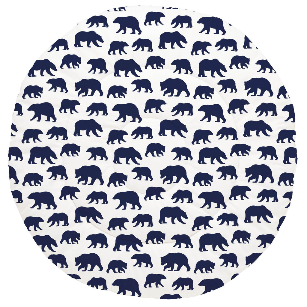Product image for Navy Bears Baby Play Mat