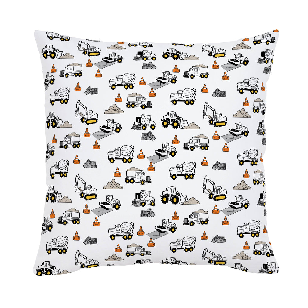 Product image for Construction Trucks Throw Pillow
