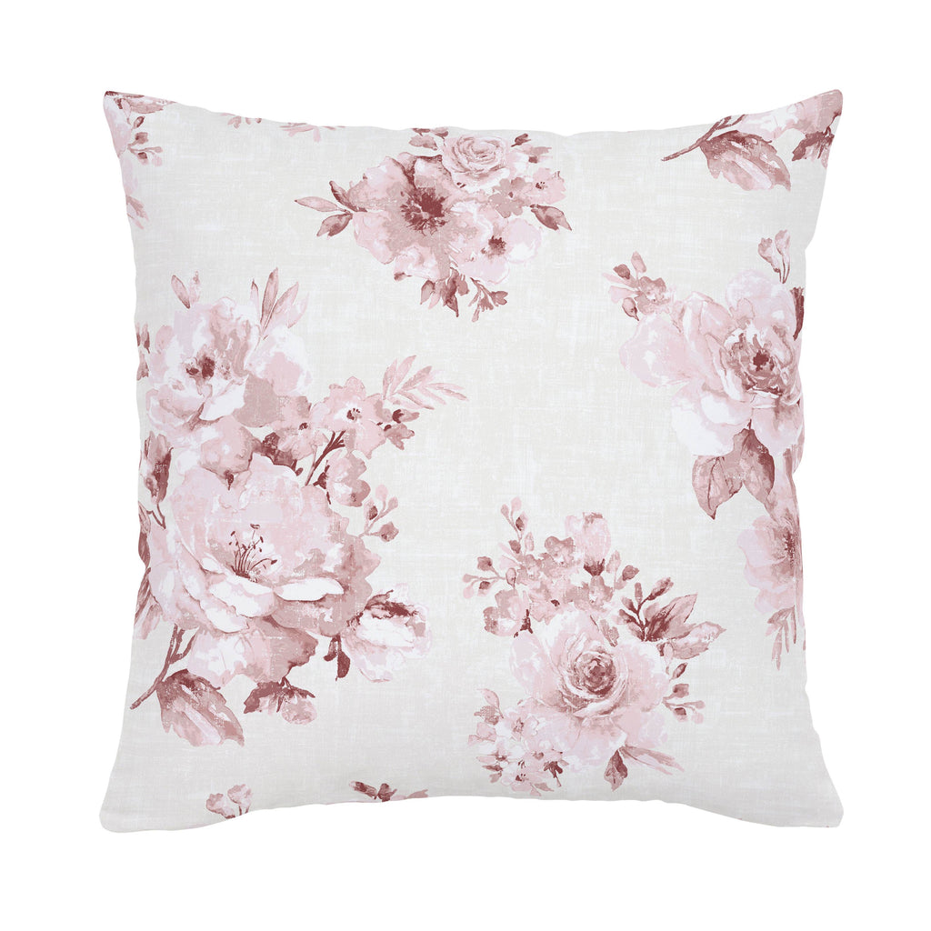Product image for Rose Farmhouse Floral Throw Pillow