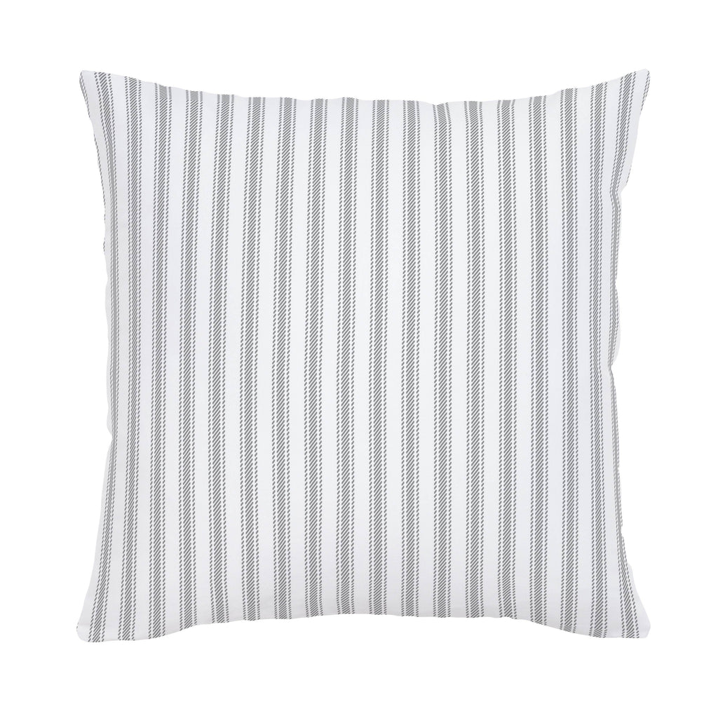 Product image for Cloud Gray Ticking Stripe Throw Pillow