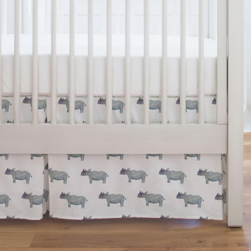 Product image for Painted Rhino Crib Skirt Single-Pleat